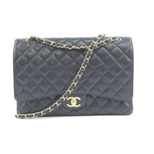 Classic Flap  Quilted Caviar Leather Shoulder Bag